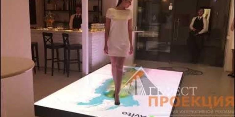 Интерактивный светодиодный пол с персональным контентом для мероприятия Avito.