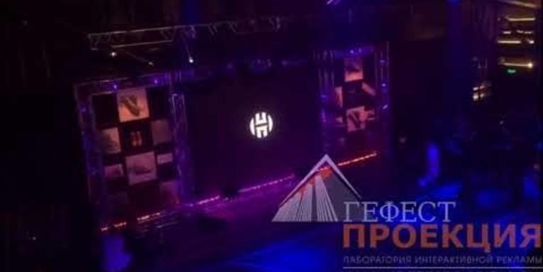 Светодиодный экран на закрытое мероприятие Adidas в ТЦ Цветной