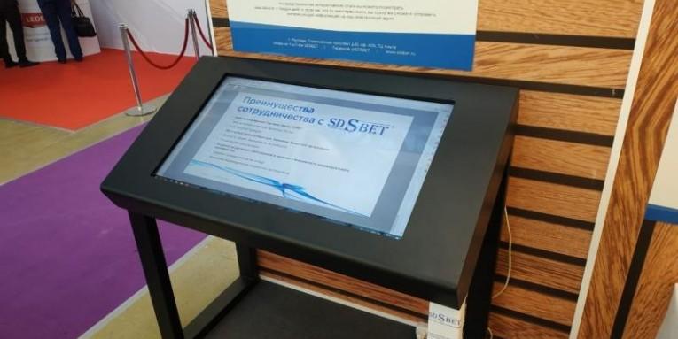 Интерактивный Стол на стенде компании SDSвет. Выставка в Экспоцентре г.Москва