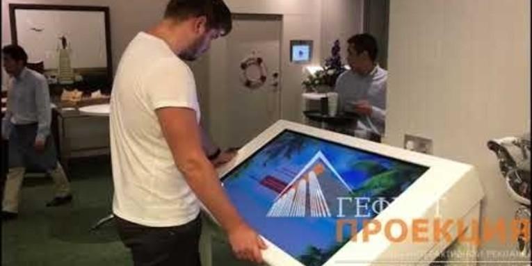 6 интерактивных столов с уникальным контентом Гефест проекция совместно с 5-групп для компании recordati