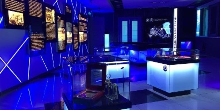 Интерактивное и проекционное оснащения музея компании Сибшахтострой в г. Новокузнецк